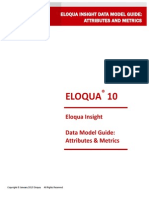 Eloqua Insight Data Model Attributes and Metrics