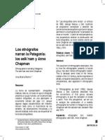 Los Etnografos Narran La Patagonia