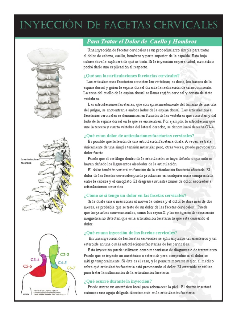 Cervical Facet Injection Spanish.pdf