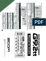 Manual ZOOM G9.2tt