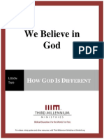 We Believe In God - Lesson 2 – Transcript