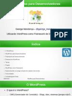 WordPress Para Desenvolvedores FLISOLDF 2015