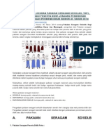 Bentuk & Ukuran Pakaian Seragam Sekolah