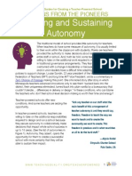 Securing and Sustaining Autonomy