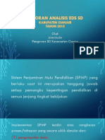 Laporan Analisis EDS SD Kab. Cianjur 2015