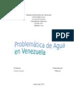Problemática de Agua en Venezuela-asignación simple.
