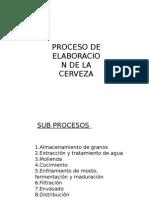 Elaboracion de Cerveza PROCESO