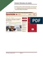 Analisis Del Articulo Escrito Por El Diario Gestion Del Dia 05