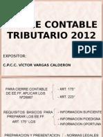 Cierre Contable y Tributario 2012