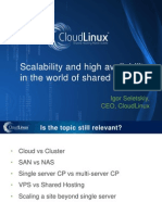 Scalability and High Availability in the World of Shared Hosting