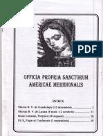 Officia Propria Sanctorum Americae Meridionalis