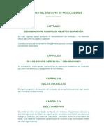 Estatutos Del Sindicato de Trabajadores