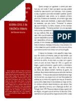 A Literatura Angolana e a Representação Da Guerra Pela Independência, Da Guerra Civil e Da Violência Urbana