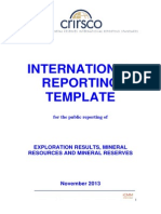 Crirsco (2013) International Reporting Template