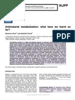 Antimalarial metabolization