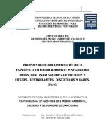 perfil medio ambiente y seguridad industrial para salones de eventos, restaurantes, discotecas y bares.