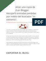 Copia de seguridad Blogger