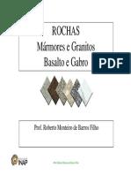 Rochas Marmores e Granitos