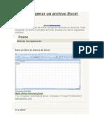 Cómo Recuperar Un Archivo Excel Corrupto