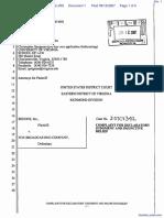 segOne, Inc. v. Fox Broadcasting Company - Document No. 1