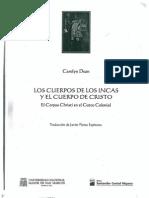 Los Cuerpos de Los Incas y El Cuerpo de Cristo. Carolyn Dean. Capítulo III. p.49-60