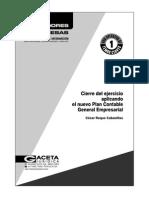 Cierre Del Ejercicio Aplicando El Nuevo Plan Contable General Empresarial