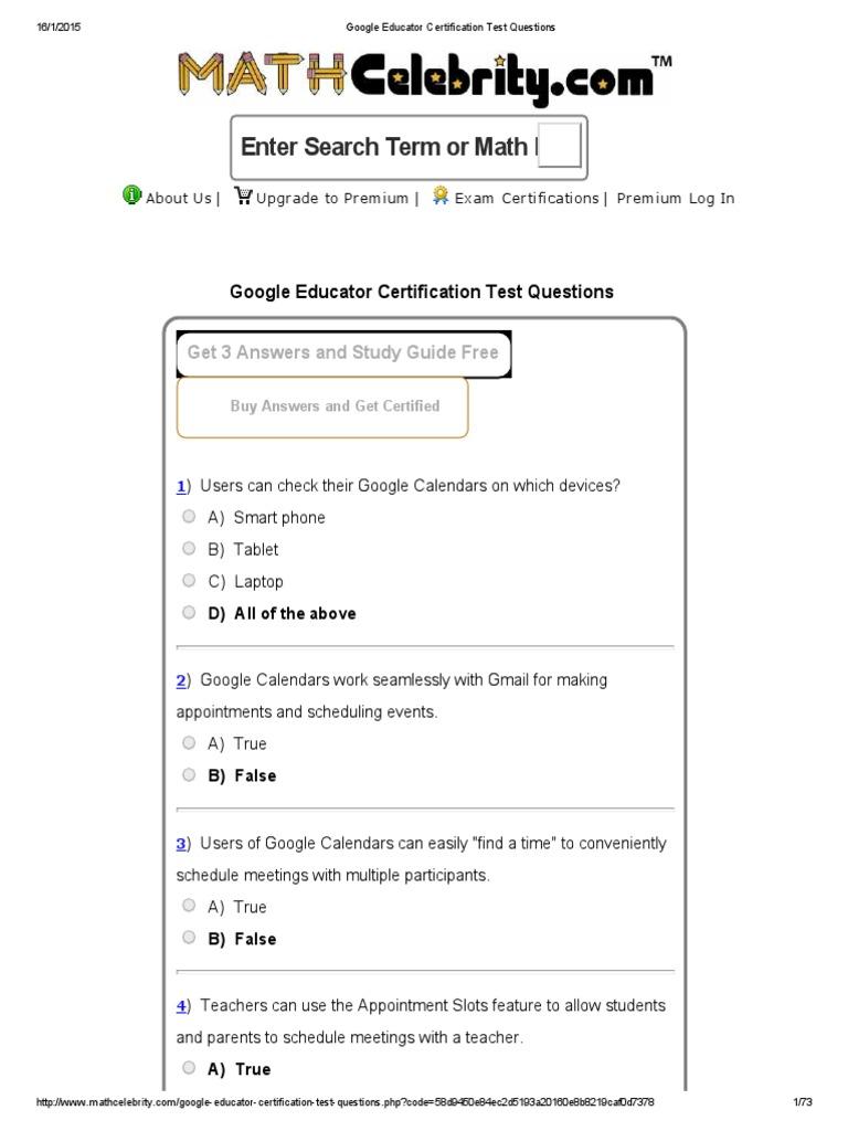 Google educator certification test questions gmail google xflitez Image collections