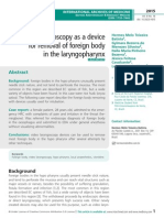 Video laryngoscopy as a device for removal of foreign body in the laryngopharynx
