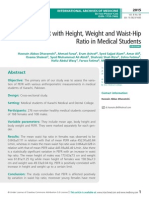 Variation of PEFR with Height, Weight and Waist-Hip Ratio in Medical Students
