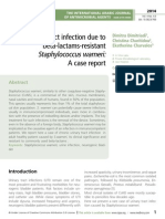 Urinary tract infection due to beta-lactams-resistant Staphylococcus warneri