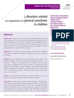 Learning disorders related to exposure to general anesthetic in children