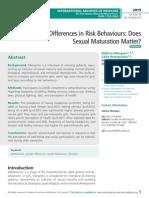 Gender Differences in Risk Behaviours