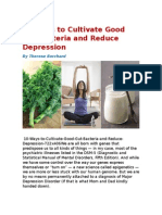 10 Ways to Cultivate Gut Bacteria and Reducce Depression