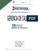 Manual de Procesos-Administradora de Fondos Genesis