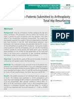 Quality of Life in Patients Submitted to Arthroplasty Total Hip Resurfacing