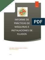 Informe Prácticas Máquinas e Instalaciones de Fluidos