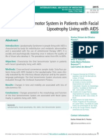 Oral Sensorimotor System in Patients with Facial Lipoatrophy Living with aidS