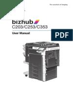 Konica Minolta Manual Bizhub C203-C253-C353 (Inglés)