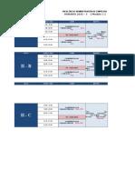 Horarios CPE 2015 03 II VII Gestion