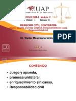 8 Juego y Apuesta, Promesa Unilateral, DePOSITO, Enriquecimiento Sin Causa, Responsabilidad Civil