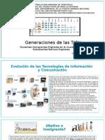 Generaciones de Las TIC's