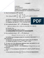 Examen Septiembre 2007 Algebra