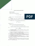 Prova UFMG Matemática