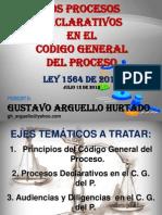 Los Procesos Declarativos en El Código General Del Proceso