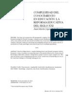 ComplejidaddelconocimientoeneducacionlareformaeducativadelsigloXXI