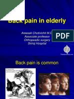 Back Pain in Elderly