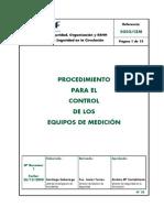 Proced Control Equipos Medicion