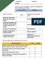Information Literacy Worksheet