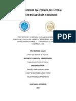 Proyecto de Inversión Para La Elaboración y Comercialización de Un Sanck Artesanal