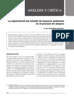 La importancia del Estudio de Impacto Ambiental en el Proceso de Amparo